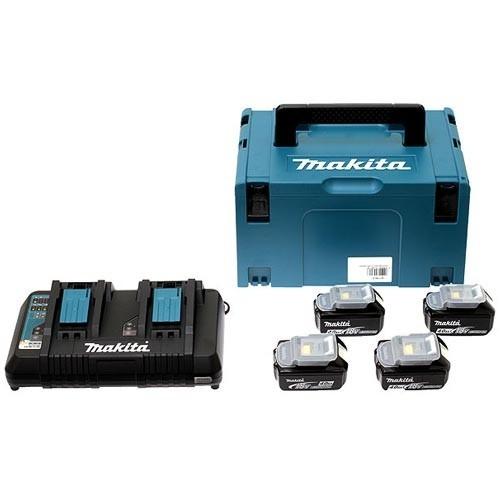 MAKITA Pack énergie 4 batteries 5Ah avec chargeur - 197626-8