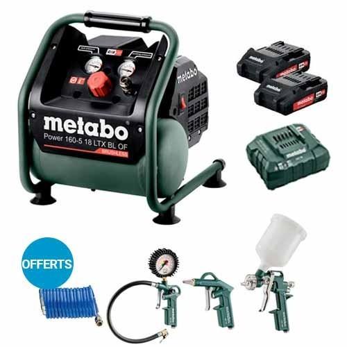 METABO Compresseur portatif 18V brushless + kit outils air comprimé - 601521850