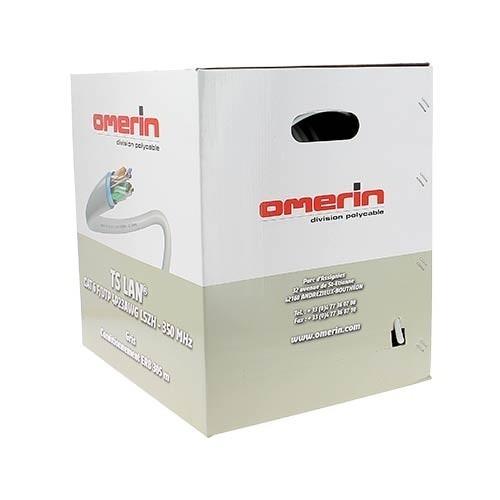 Câble RJ45 informatique Catégorie 5e F/UTP 4P 350Mhz OMERIN - Box de 305m