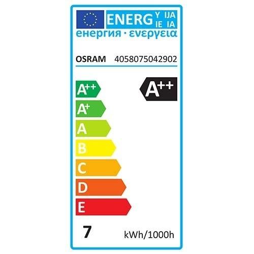 OSRAM Lot de 4 ampoules LED E27 230V 7W(=60W) 806lm 2700°K standard consommation énergétique