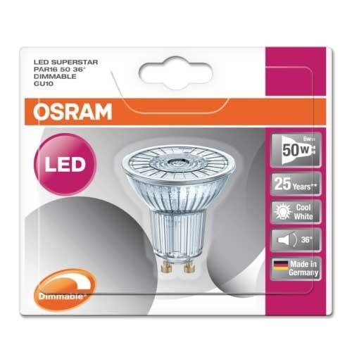 OSRAM Spot LED PAR16 GU10 36° 230V 5,5W dimmable blanc froid 350lm - 3