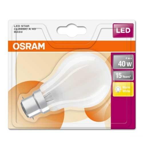 OSRAM Ampoule LED 470lm B22d 230V 4W en verre dépoli standard - 3
