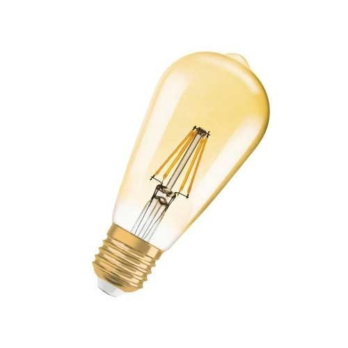 OSRAM Ampoule LED filament E27 230V 2,8W 200lm édition 1906 Edison or - 2