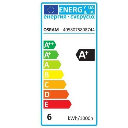 Ampoule LED filament dimmable OSRAM E14 flamme coup de vent