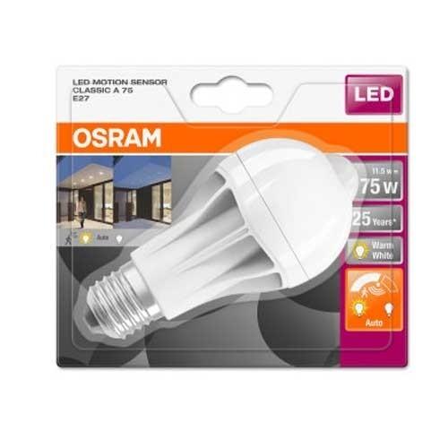 OSRAM Ampoule LED STAR+ avec détection de mouvement 230V standard 1060lm 11,5W E27