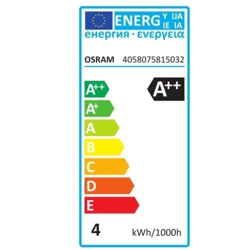 OSRAM Ampoule LED en verre dépoli flamme 470lm E14 4W 230V - 4