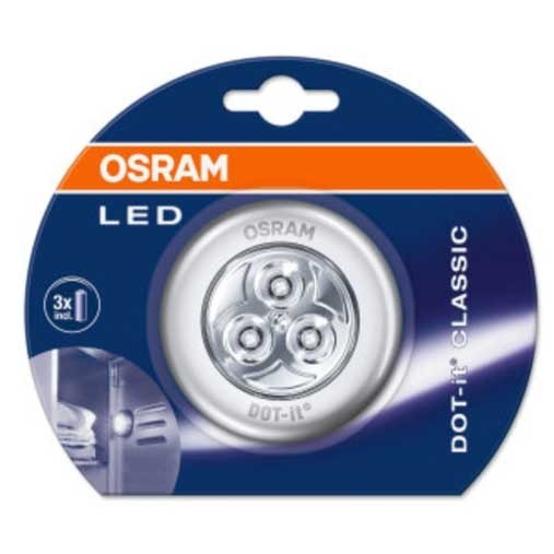 OSRAM Spot LED à piles Dot-it 0,23W 4,5V 10lm argent - 2