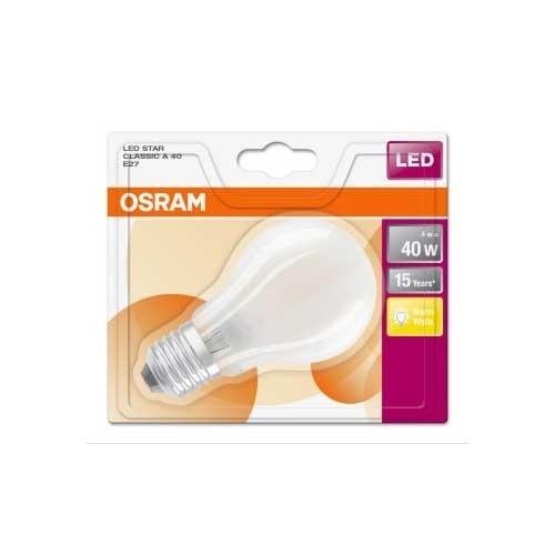 OSRAM Ampoule LED en verre dépoli standard 4W 470lm E27 230V - 3