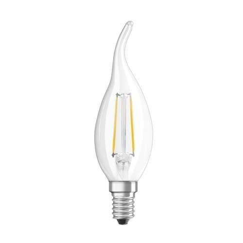 OSRAM Ampoule LED filament flamme coup de vent 2,8W 230V 230lm E14
