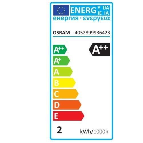 OSRAM Ampoule LED filament flamme coup de vent 2,8W 230lm E14 230V