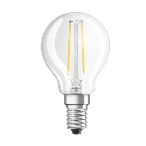 OSRAM Ampoule LED filament sphérique 2,8W 230lm E14 230V