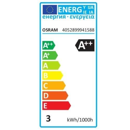 OSRAM Ampoule LED filament E14 230V 2,8W 250lm flamme torsadée