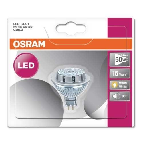 OSRAM Spot LED MR16 GU5.3 36° 12V 7,2W 621lm blanc chaud - 3