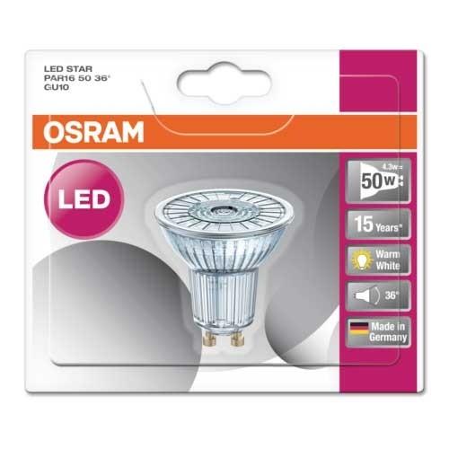 OSRAM Spot LED PAR16 GU10 36° 230V 4,3W 350lm blanc chaud - 2