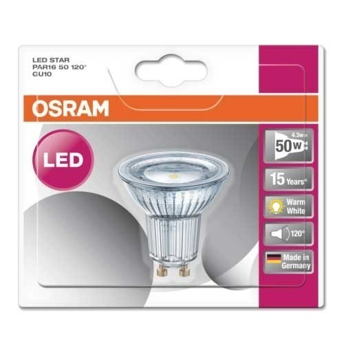OSRAM Spot LED GU10 120° 230V 350lm 4,3W PAR16