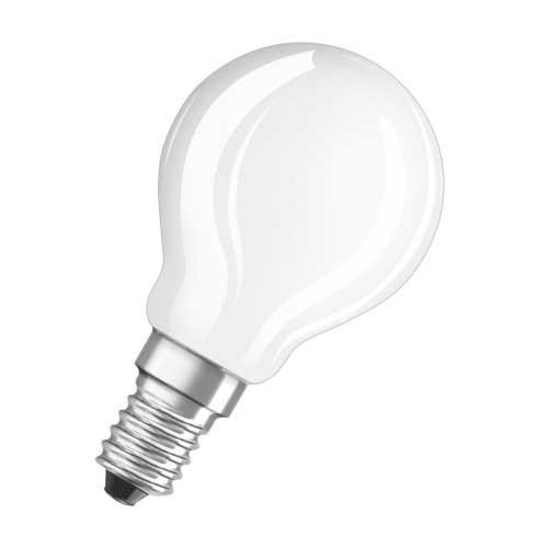 OSRAM Ampoule LED en verre dépoli E14 230V 4W 470lm sphérique - 2