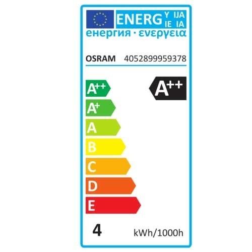 OSRAM Ampoule LED en verre dépoli sphérique 4W 470lm E27 230V