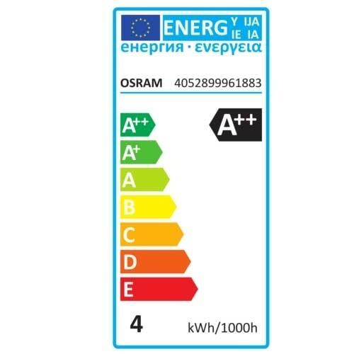 OSRAM Ampoule LED filament flamme coup de vent 4W 470lm E14 230V