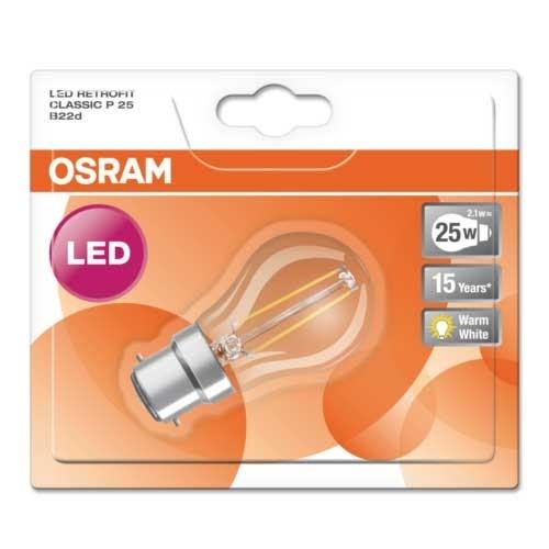 OSRAM Ampoule LED filament sphérique 2,8W 230V 250lm B22d - 3