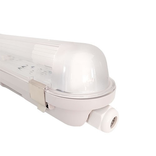 Réglette LED étanche grise 1 tube LED 230V 18W 1800lm 120cm