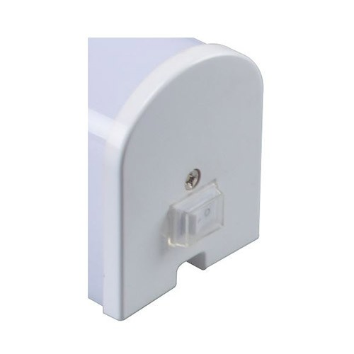 Réglette LED 230V 8W 900lm 4000°K 410mm avec interrupteur blanc