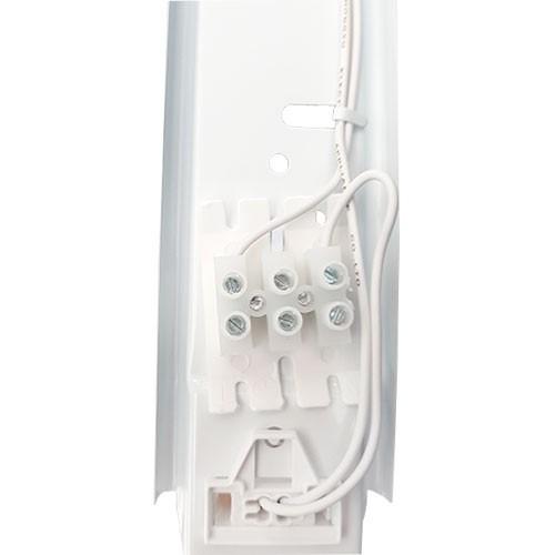Réglette LED grise étanche 1 tube LED 230V 9W 1000lm 60cm