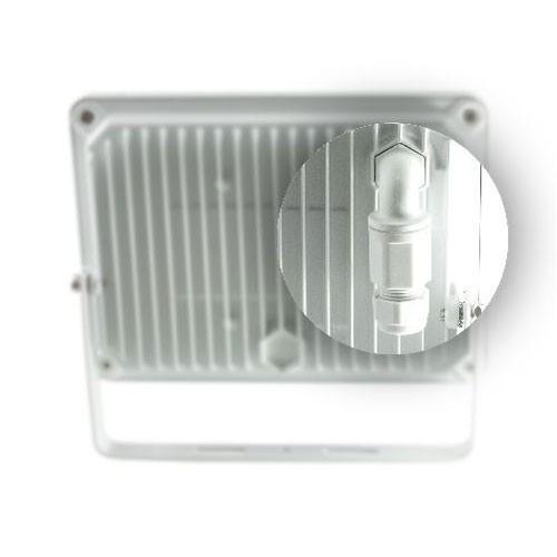 Projecteur extérieur LED 230V 10W 900lm 4000°K blanc extra plat