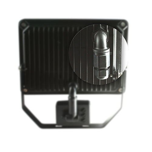 Projecteur extérieur LED 230V 30W 2700lm 4000°K noir extra plat à détection