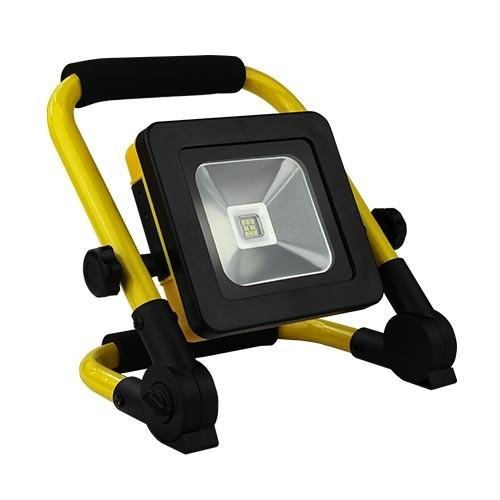 Projecteur de chantier LED extra plat sur batterie 10W 500lm 4000°K IP44