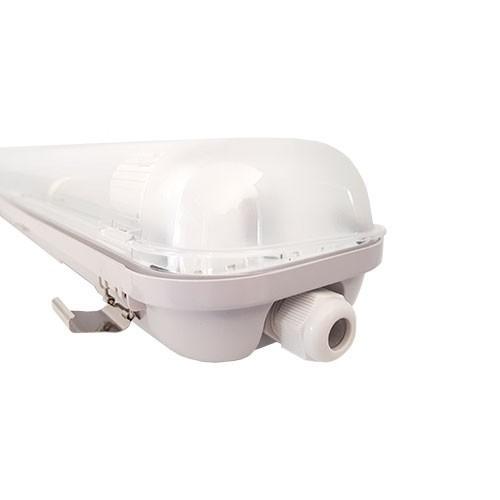 Réglette LED grise étanche 2 tubes LED 230V 2x18W 3600lm 120cm