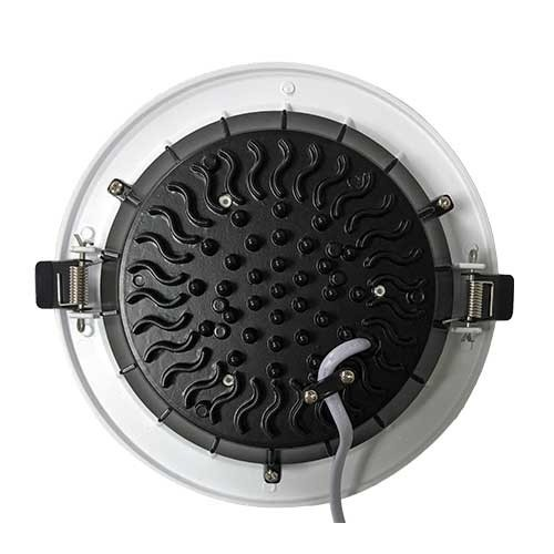 Downlight LED COB 230V 25W 2500lm 4000°K 220mm blanc à encastrer