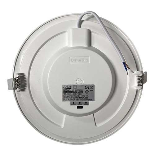 Downlight LED extra plat 230V 18W 1300lm CCT 220mm blanc à encastrer