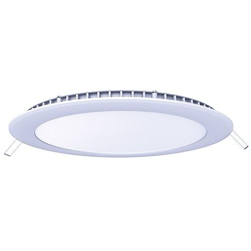 Downlight LED extra plat à encastrer 230V 18W 1550lm 4000°K 225mm blanc