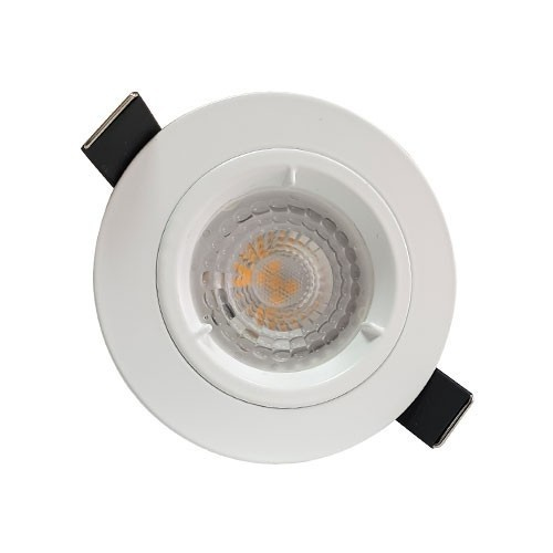 Lot de 3 spots LED 85mm GU10 230V 3x5W 380lm 2700°K encastrables blanc