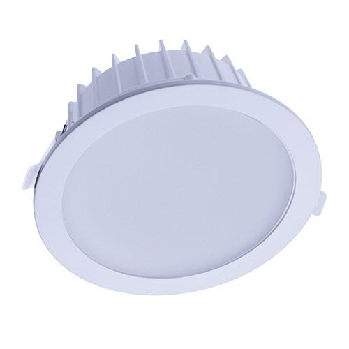 Downlight LED BBC à encastrer 230V 15W 1500lm 4000°K 198mm blanc
