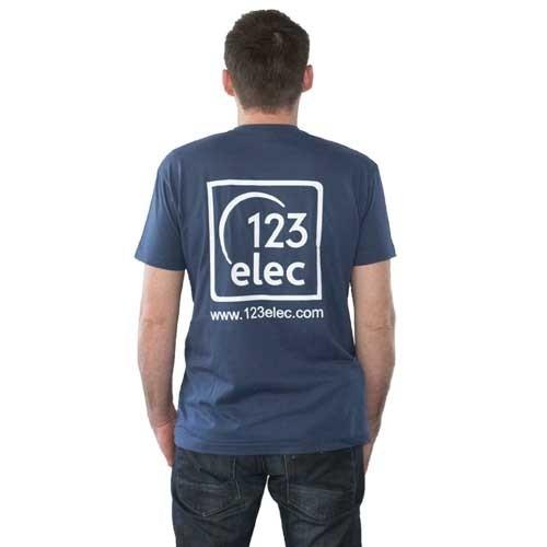 Tee-Shirt 123elec Bleu denim Taille M - 2