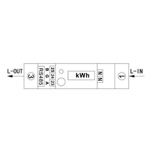 POLIER Compteur d'énergie 100A Monophasé avec Ecran LCD - Certifié MID - Modbus - 2