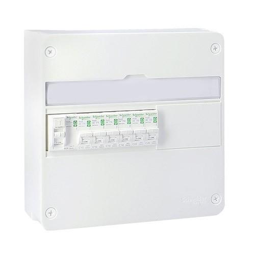 SCHNEIDER Resi9 XP Tableau électrique prééquipé 1 rangée 1ID 40A 6 disjoncteurs