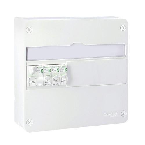 SCHNEIDER Resi9 XE Tableau électrique prééquipé 1 rangée 1ID 40A 3 disjoncteurs