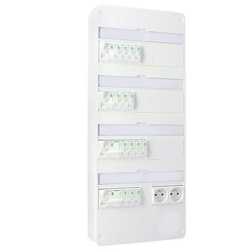 SCHNEIDER Resi9 XE Tableau électrique prééquipé auto 4 rangées 2ID 40A 2ID 63A 14 disjoncteurs