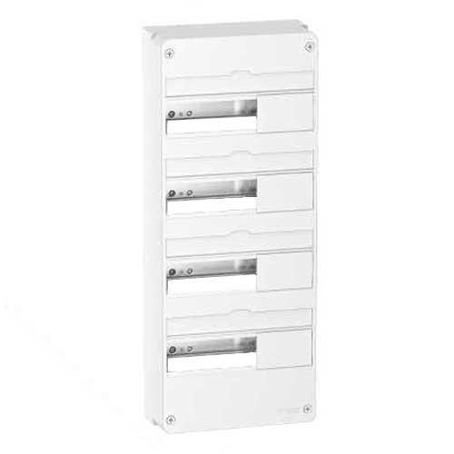 tableau lectrique schneider 4 rang es 13 modules resi9. Black Bedroom Furniture Sets. Home Design Ideas