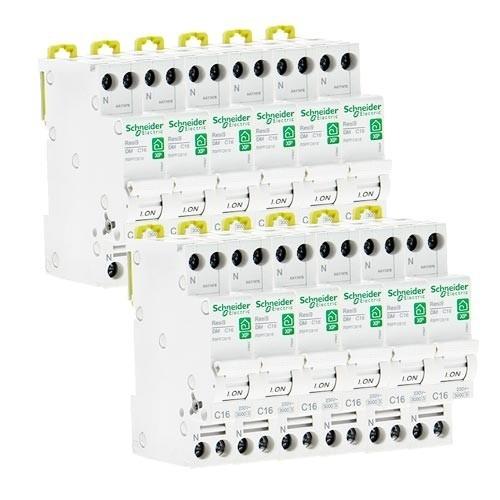 SCHNEIDER Resi9 XP Disjoncteur courbe C 16A Ph+N3kA 230V - Lot de 12 R9PFC616