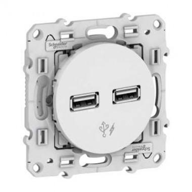 SCHNEIDER Odace Mécanisme prise double chargeur USB - S520409 - 2