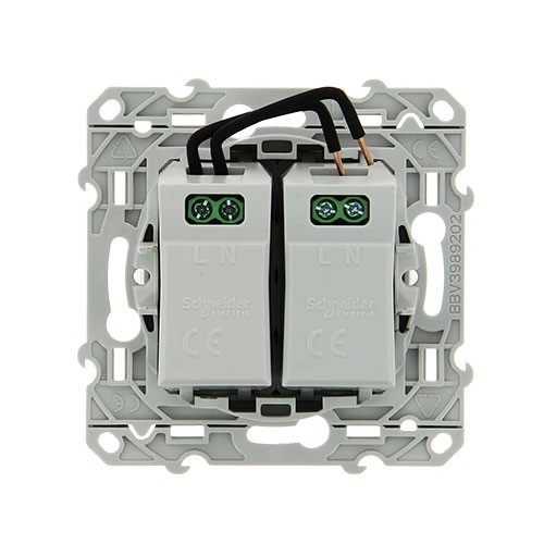 SCHNEIDER Odace Mécanisme prise double chargeur USB - S520409 - 3