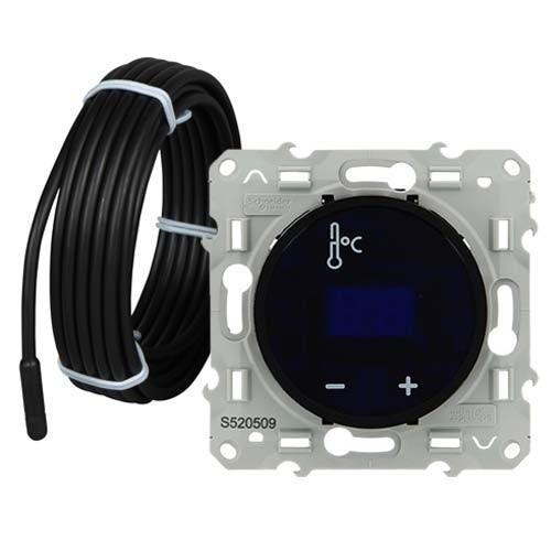Thermostat à écran tactile noir SCHNEIDER Odace - S520509