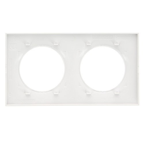 SCHNEIDER Plaque double blanche Odace