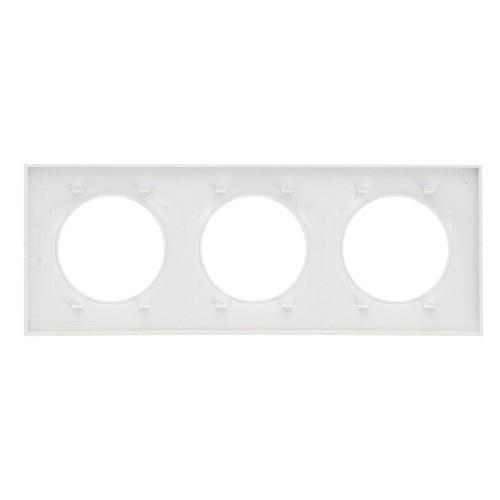 SCHNEIDER Plaque triple blanche Odace
