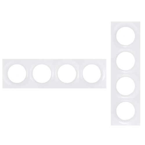 SCHNEIDER Odace Plaque 4 postes blanche - S520708