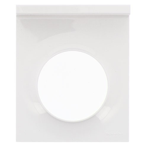 SCHNEIDER Odace Plaque 1 poste support téléphone mobile blanc