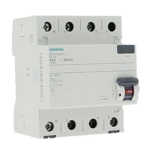 SIEMENS Interrupteur différentiel tétrapolaire 63A type AC 30mA